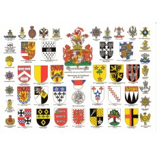 Heraldic Card : The Battle of Waterloo, 18th Jun 1815